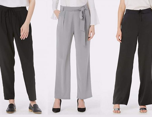 Ladies Silk Trousers